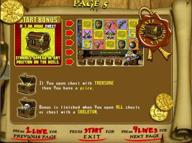 ігровий автомат скарби піратів